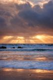 Shore Beams at Pfeiffer Beach Fotografie-Druck von Vincent James