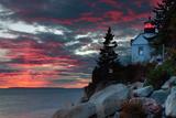 Sunset at Bass Harbor Reproduction photographique par Vincent James