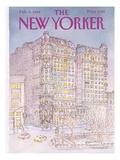 The New Yorker Cover - February 6, 1984 Giclée-Premiumdruck von Iris VanRynbach