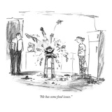 """""""He has some food issues."""" - New Yorker Cartoon Premium Giclee Print by Robert Weber"""