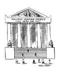 'Truth•Justice•Mercy - New Yorker Cartoon Premium Giclee Print by Mischa Richter