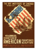 Poster for American Art Exhibition Print