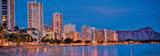 Honolulu - Waikiki Beach - Resorts and Diamond Head Crater on Ohau Island - Hawaii Prints