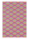Rainbow Scales Pattern Kunstdrucke