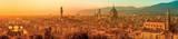 Panorama över Florens, Italien Affischer
