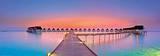 Maldives Bungalows Sunset Panorama Posters