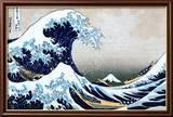 Den store bølgen ved Kanagawa, fra 36 visninger av berget Fuji, ca. 1829 Poster av Katsushika Hokusai
