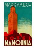 Hotel De La Mamounia Kunstdruck