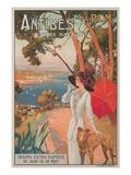 Travel Poster, Antibes Plakat