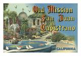 Mission de San Juan Capistrano Affiches