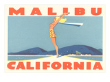 Stretching Girl, Malibu, California Poster