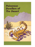 Scorpion, Poisonous Desert Dweller Giclée-Premiumdruck