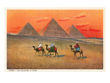 Giza Pyramid at Sunset, Egypt Poster