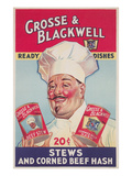 Chef with Canned Goods Posters