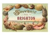 Souvenir from Brighton, England Lámina giclée prémium