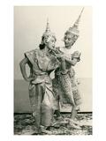 Siamese Temple Dancers Affiche