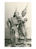 Siamese Temple Dancers Poster