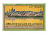 Ad for Limoges Fair, France Giclée-Premiumdruck