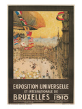 Poster for 1910 Brussells Exhibition Print