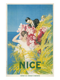 Travel Poster for Nice, France Giclée-Premiumdruck
