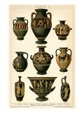 Greek Vases Poster