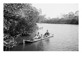 Seminole Indians, Everglades, Florida Premium Giclee-trykk