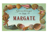 Greetings from Margate, New Jersey Giclée-Premiumdruck