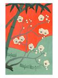 Floating Japanese Cherry Blossoms Kunstdruck