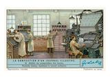 Newspaper Business,Typesetting Room Lámina