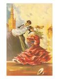 Danseuses de flamenco Affiches