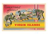 Greetings from St. Croix, Virgin Islands Kunstdrucke
