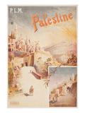 Travel Poster for Palestine Giclée-Premiumdruck