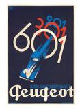 French Poster for Peugeot Kunstdrucke