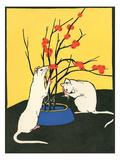 White Rats, Red Berries Lámina giclée prémium