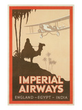 Travdel Poster for Imperial Airways Giclée-Premiumdruck
