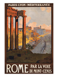 Travel Poster for Rome, Italy Art