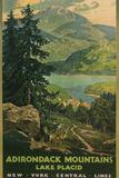 Adirondack Mountains, Lake Placid, Railroad Poster Plakater