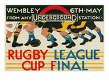 Rugby League Cup Final at Wembley Poster