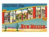 Greetings from Santa Fe, New Mexico Prints