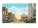 O Street, Lincoln, Nebraska Kunstdrucke