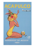 Acapulco Travel Poster, Sunbather Prints