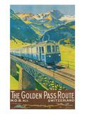 Travel Poster for Swiss Railway Giclée-Premiumdruck