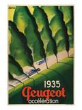 1935 Peugeot Acceleration Kunstdruck