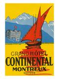 Travel Poster, Montreux, Switzerland Poster
