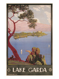 Travel Poster for Lake Garda, Italy Posters