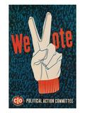 We Vote, Glove with V Sign Prints