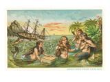 Greetings from Cape May, New Jersey, Mermaids Kunstdrucke