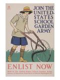 World War I Poster for Gardening Print
