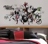 Avengers Assemble Black & White Graphic Peel & Stick Wall Decals Vinilo decorativo