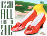 Wizard of Oz - It's All About the Shoes Movie Tin Sign Placa de lata